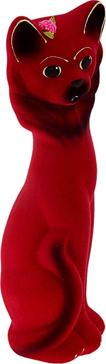 Копилка Керамика ручной работы Кошка Василиса, цвет: розовый, 6 х 6 х 26 см748745Женщины любят баловать себя покупками для красоты и здоровья. С помощью такой копилки можно незаметно приблизиться к приобретению желаемого. Образ кошки всегда олицетворял привлекательность и символизировал домашнее спокойствие. Поставьте изделие возле предметов роскоши, и оно будет способствовать их преумножению.Обращаем ваше внимание, что копилка является одноразовой.