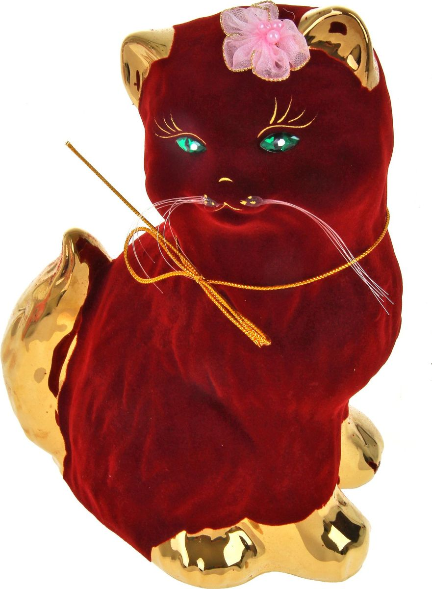 Копилка Керамика ручной работы Кошка Сима, 24 х 15 х 12 см788113Женщины любят баловать себя покупками для красоты и здоровья. С помощью такой копилки можно незаметно приблизиться к приобретению желаемого. Образ кошки всегда олицетворял привлекательность и символизировал домашнее спокойствие. Поставьте изделие возле предметов роскоши, и оно будет способствовать их преумножению.Обращаем ваше внимание, что копилка является одноразовой.