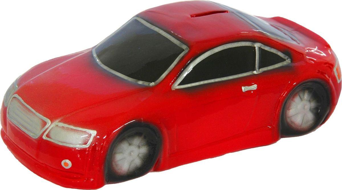 Копилка Керамика ручной работы Машина, цвет: красный, 23 х 11 х 7 см копилка электронная банкомат цвет красный