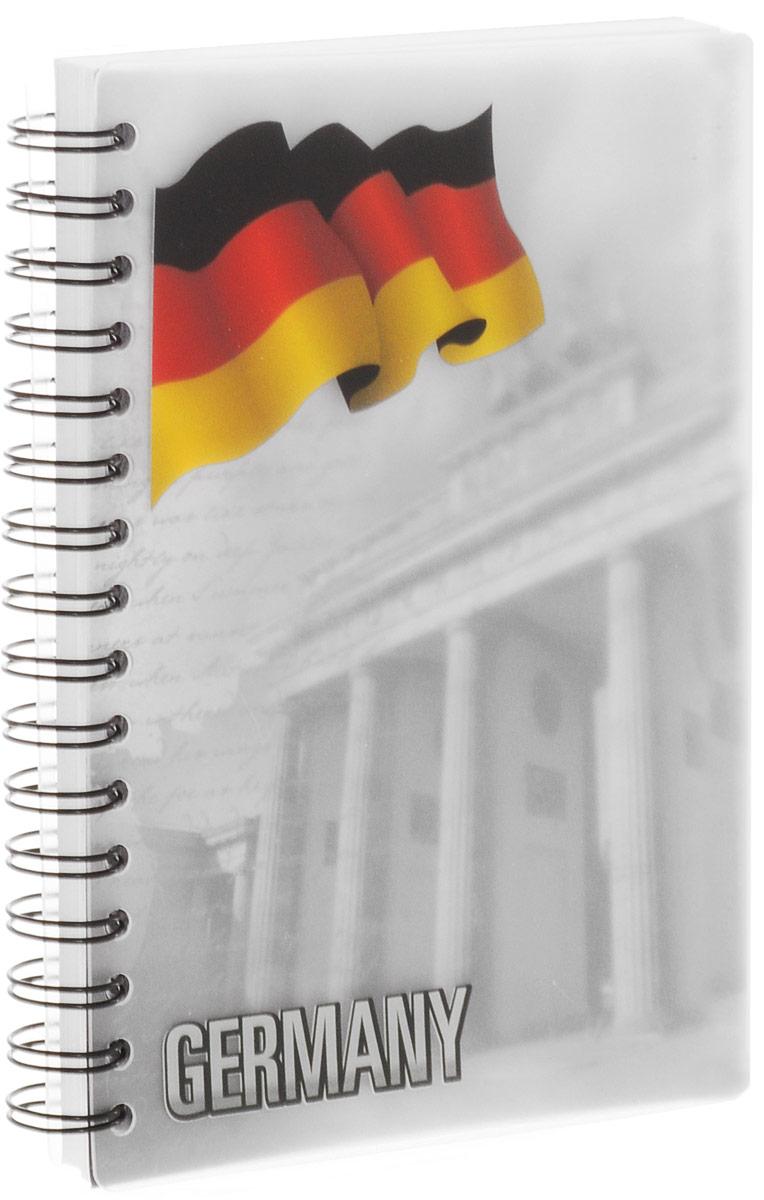 Brauberg Блокнот Страны Германия 80 листов в клетку125405_ГерманияБлокнот Brauberg Страны. Германия станет незаменимым атрибутом для современного человека. Обложка блокнота, изготовленная из прозрачного пластика с цветным форзацем, позволяет надежно защищать бумагу от повреждений. Внутренний блок состоит из 80 листов белой офсетной бумаги. Стандартная линовка в клетку без полей. Листы блокнота соединены гребнем, такое практичное и надежное крепление позволяет отрывать листы и полностью открывать блокнот на столе.
