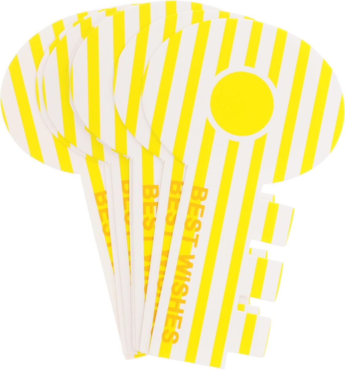 Карамба Закладки Ключ цвет желтый 8 шт