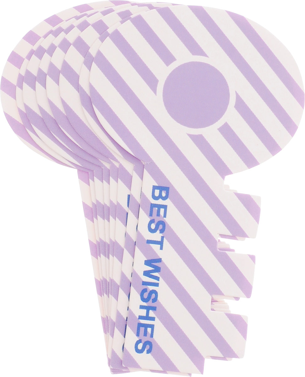 Карамба Закладки Ключ цвет сиреневый 8 шт