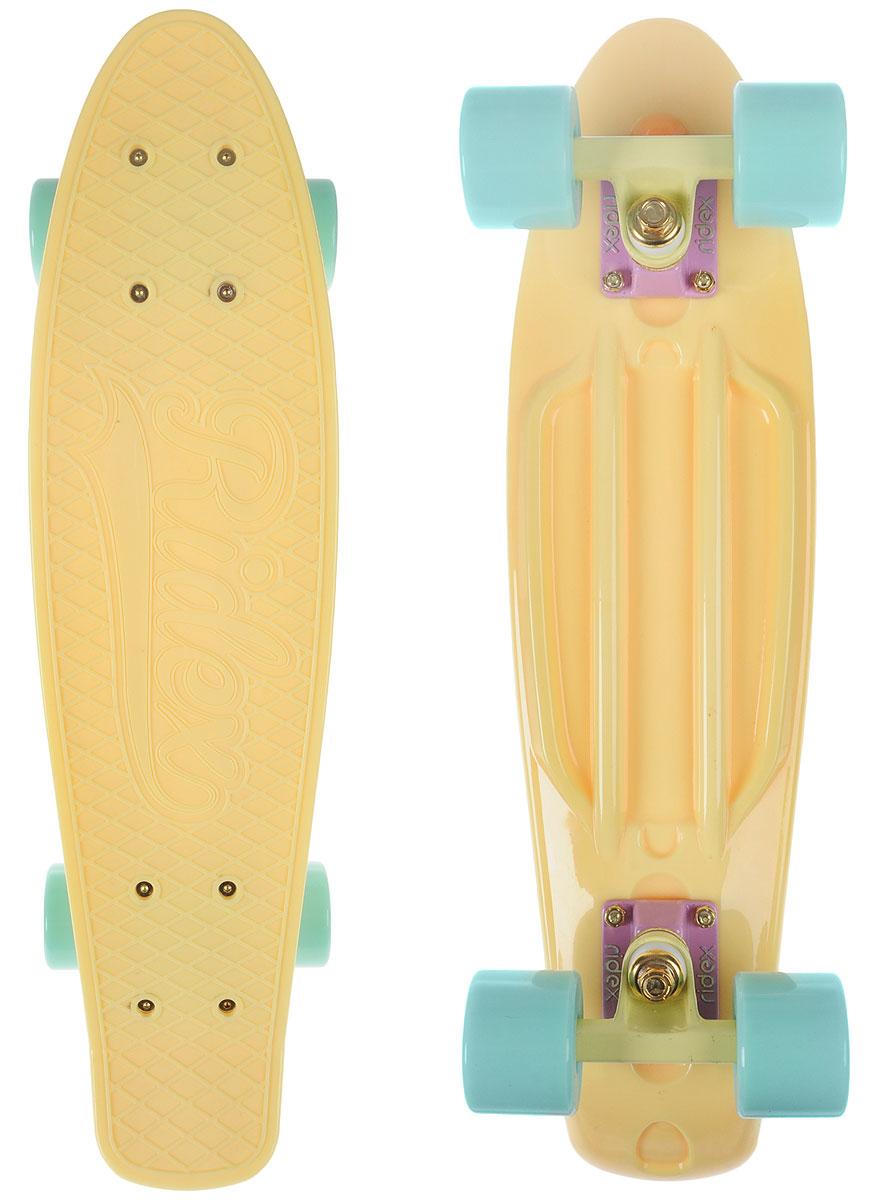 Круизер Ridex  Vanilla , цвет: желтый, мятный, дека 56 х 15 см - Скейтборды и пенни борды