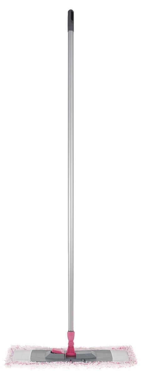 Швабра Эргопак, плоская, универсальная, с рукояткой, цвет: малиновый, белый, серый, длина 120 см3589 ERGN_малиновый, белый, серыйУниверсальная швабра Эргопак, выполненная из высококачественного металла, полипропилена и полиэтилена, идеально подходит для мытья всех типов напольных поверхностей: паркет, ламинат, линолеум, кафельная плитка. Материалы насадки - полиэстер и полиакрилонитрил, которые обладают высокой износостойкостью, не царапают поверхности и отлично впитывают влагу. Благодаря своей структуре, насадка отлично моет углы.Длина ручки: 120 см.Размер насадки: 45 х 14 см.