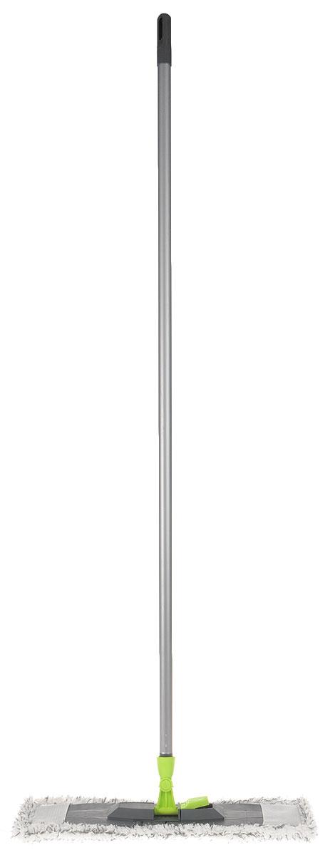 Швабра Эргопак, универсальная, цвет: серый, салатовый, белый, длина 120 см3589 ERGN_серый, салатовый, белыйУниверсальная швабра Эргопак, выполненная из высококачественного металла, полипропилена и полиэтилена, идеально подходит для мытья всех типов напольных поверхностей: паркет, ламинат, линолеум, кафельная плитка. Материалы насадки - полиэстер и полиакрилонитрил, которые обладают высокой износостойкостью, не царапают поверхности и отлично впитывают влагу. Благодаря своей структуре, насадка отлично моет углы.Длина ручки: 120 см.Размер насадки: 45 х 14 см.