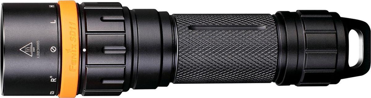 Фонарь для дайвинга Fenix SD11, цвет: черный phoenix fenix фара стильная легкая многоцелевая ходьба бег на велосипеде вспомогательного освещения hl05 зеленый 8 люменов