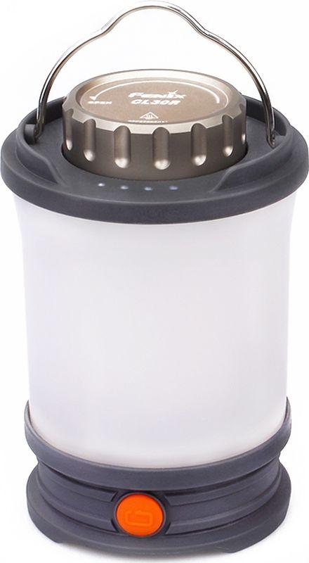 Фонарь кемпинговый Fenix CL30R, цвет: черныйCL30RОписание фонаря Fenix CL30R:Фонарь Fenix CL30R адресован всем любителям активно проводить время с палатками на природе. Это кемпинговая модель, которая обеспечит хорошее освещение на достаточно большой территории. Диаметр освещения для CL30R составляет 35 метров. При этом, благодаря наличию рассеивающей линзы, свет равномерно расходится одновременно во всех направлениях. Максимально доступная для данного фонаря яркость составляет 650 люмен.Модель поддерживает сразу шесть режимов освещения, что позволяет не только выбрать нужную яркость, но и использовать фонарь для подачи сигналов. Максимально яркий свет на 650 люмен обеспечивает режим Turbo. Практически в половину менее яркий — режим High на 350 люмен. Естественно, и территория, которую будет освещать фонарь, в этом режиме будет меньшей. Затем следуют режим Mid на 100 люмен, Low на 50 люмен и Eco на 10 люмен. Последний из режимов лучше всего подходит для дополнительной ночной подсветки внутри палатки. Помимо того, производители позаботились, чтобы с помощью фонаря CL30R можно было подавать светом сигналы. Для этого используется режим Flash с яркостью 100 люмен. Это мигающий свет, который максимально хорошо заметен на большом расстоянии.Для работы фонаря CL30R потребуются аккумуляторы размера 18650. Полный набор включает три элемента питания, но если окажется необходимым, данная модель в состоянии работать и на одном или двух аккумуляторах. В этом случае длительность работы фонаря уменьшится. Производители также привели данные о времени автономной работы CL30R при использовании фирменных аккумуляторов на 2600 мАч и на 3400 мАч. Для режима Turbo это 4 с половиной и 6 часов, для режима High — 9 и 12 часов, для режима Mid — 38 и 51 час, для режимов Low и Flash — 70 и 93 часа, для режима Eco — 300 и 400 часов. Таким образом, емкость и качество элементов питания напрямую влияет на период автономной работы кемпингового фонаря.Модель CL30R управляется при помощи одной кнопки