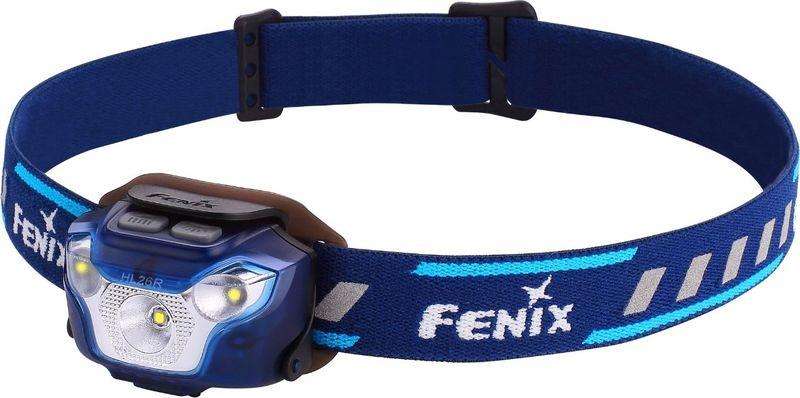 Фонарь налобный Fenix HL26R, цвет: голубойHL26RblМодель Fenix HL26R, в первую очередь, адресована любителям пробежек, но используется и для других занятий спортом или для туризма. Это очень компактный и легкий фонарь, которые предлагает самые разные характеристики освещения для большого количества ситуаций.В Fenix HL26R встроен один диод с четко сфокусированным лучом (XP-G2 R5 от бренда Cree) и два с широким мягким лучом (Nichia). Сфокусированный свет доступен пользователям в четырех режимах с яркостью 450/130/70/30 люмен. В зависимости от яркости, дальность освещения составляет от 30 до 100 метров. Эти режимы используются во время движения и подходят даже велосипедистам для хорошего обзора пути на большой дистанции. Нужно отметить, что в режиме Burst светодиод может сильно нагреваться, поэтому он самостоятельно переключается в более экономный спустя 1 минуту после активации.Вторая группа режимов объединила варианты с широким лучом света. Такое освещение создает оптимальные условия для видимости на ближней дистанции. Радиус луча невелик, зато равномерно освещаются все предметы в достаточно широком секторе. Яркость режимов постоянного света в этой группе составляет 40 люмен и 4 люмена, при дальности 10 и 4 метров. Третий режим также дает яркость 40 люмен, но используется не для освещения, а для подачи сигналов. Это режим SOS.Питание фонарь Fenix HL26R получает от встроенного несменного аккумулятора литий-полимерного типа. Этот элемент питания может заряжаться около 500 раз, практически не теряя своей изначальной емкости (1600 мАч). К тому же, он известен низким уровнем саморазряда, если фонарь длительное время будет храниться без использования. В модели Fenix HL26R предустановлена защита от коротких замыканий, а также переразряда и слишком сильного заряда. Отслеживать текущий уровень энергии помогает индикатор, который также встроен в фонарь. Информацию он передает за счет использования маленьких синих диодов, вмонтированных в корпус фонаря ниже всех основных. Если п