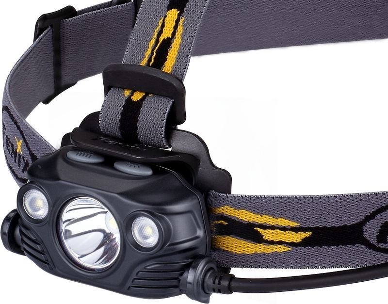 Фонарь налобный Fenix HP30R, цвет: черный