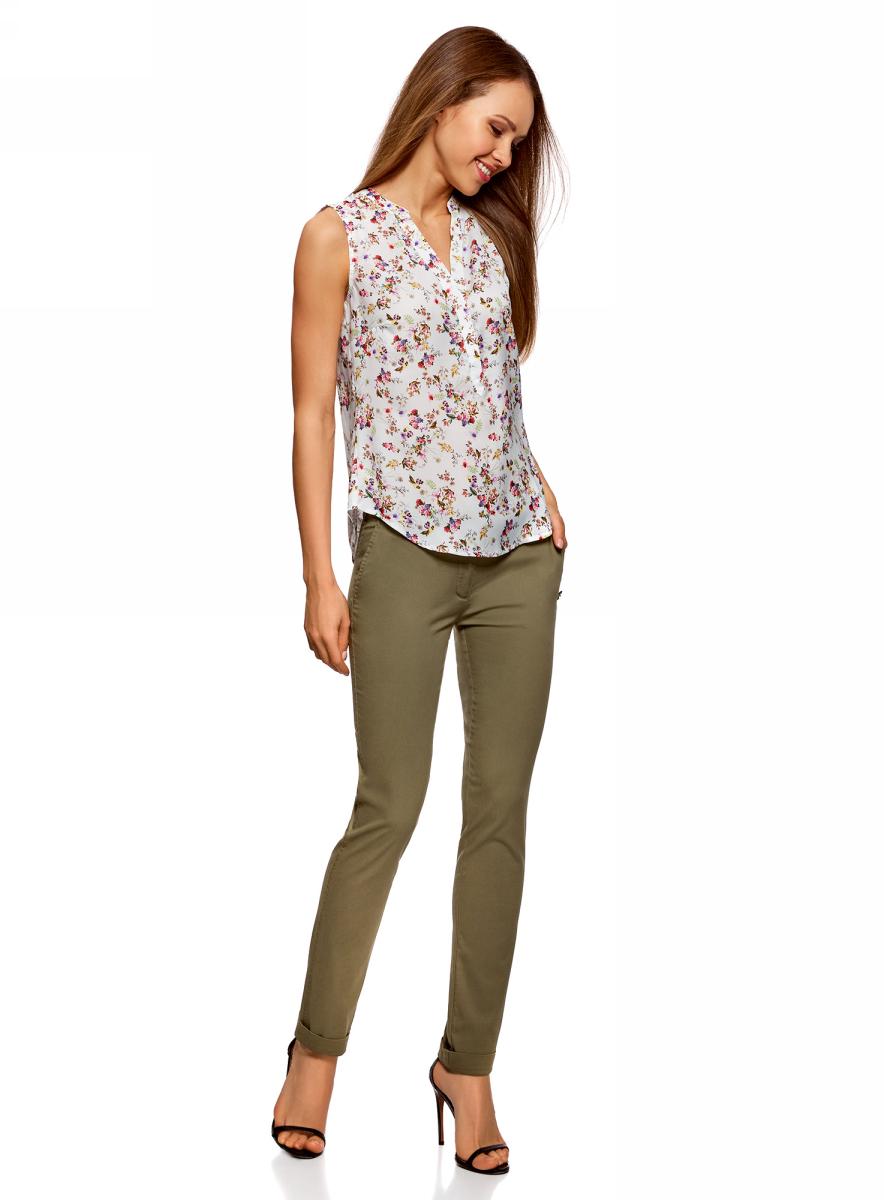 Купить Брюки женские oodji Ultra, цвет: зеленый. 11706190-5B/32887/6800N. Размер 34 (40-170)