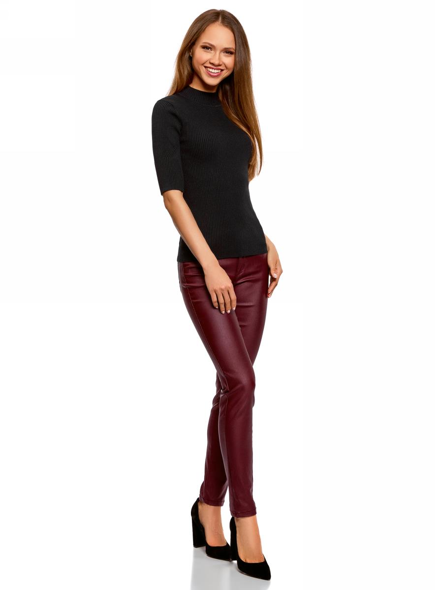 Джемпер женский oodji Ultra, цвет: черный. 63812610/47160/2900N. Размер XXL (52)63812610/47160/2900N