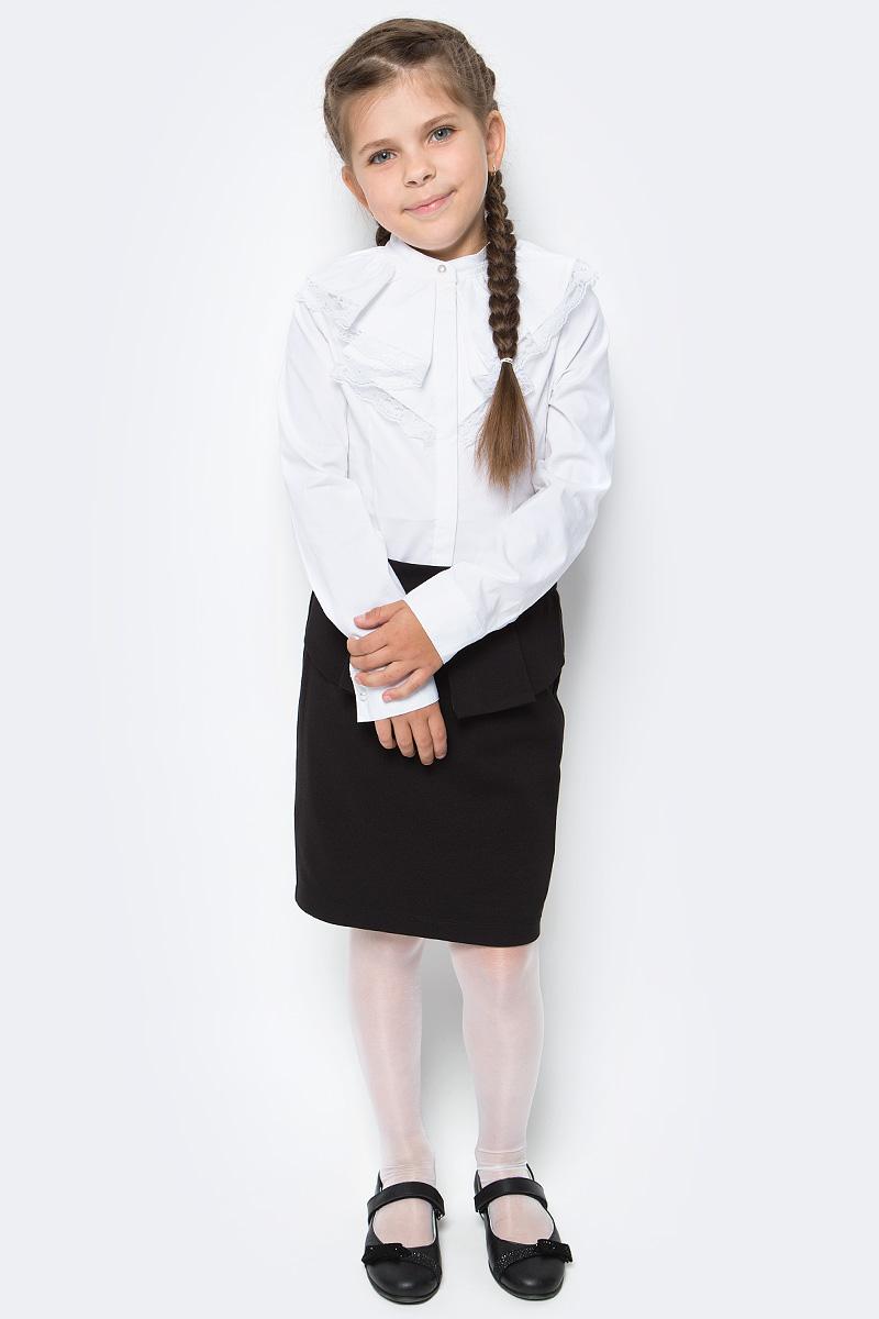 Блузка для девочки Overmoon by Acoola Mid, цвет: белый. 21200260003_200. Размер 122 infinity by acoola roberto р 122 128 белая