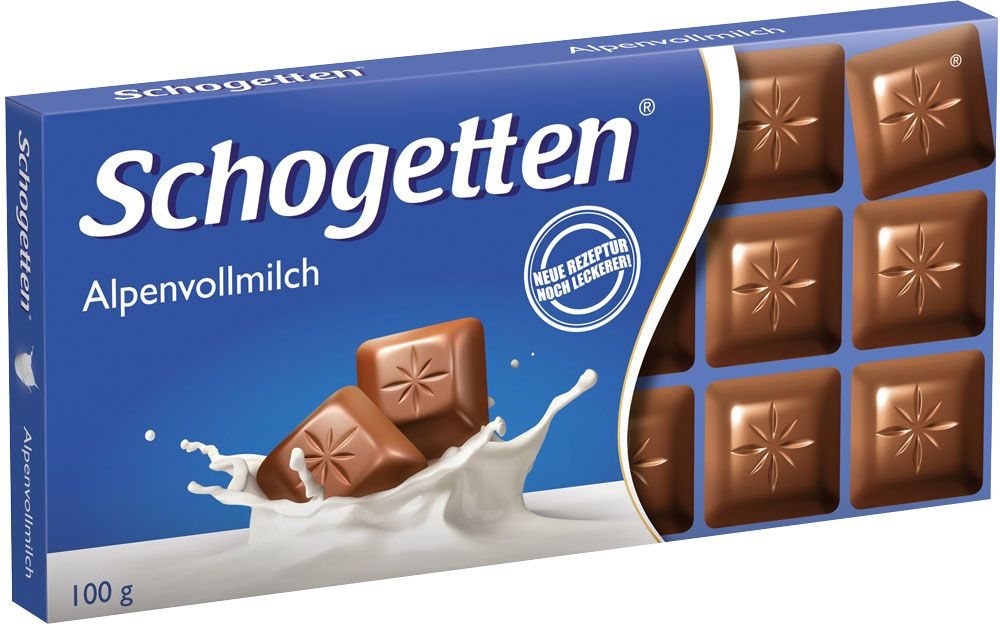 Schogetten Alpen Milk Chocolate молочный шоколад, 100 г шоколад молочный kinder chocolate 1 2 метра 300 г