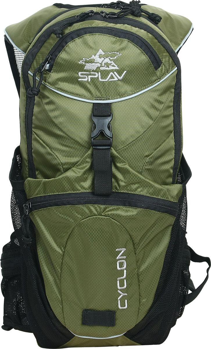 Рюкзак туристический Сплав Cyclon, цвет: зеленый, 10 л5026650Мультиспортивный небольшой рюкзак изменяемого объема. Оптимально подходит для использования в комплекте с питьевой системой. Специальное отделение для крепления питьевой системы (1,5 - 2 л). Выход трубки питьевой системы непосредственно в лямку (как правую, так и левую). Дополнительное съемное пластиковое крепления для шланга питьевой системы на лямке. Максимально вентилируемые анатомические лямки и пояс. Сетчатые карманы в поясе. Крепление для каски или вещей с фиксирующим ремнем и небольшим объемным карманом. Жесткая спина с центральным вентилирующим каналом. Большой карман из сетки на внутренней стороне передней поверхности рюкзака. Маленький карман в верхней части рюкзака. Изменяемый объем. Возможна установка питьевой системы (в комплект не входит!).Максимальный объем: 10 л Вес (без питьевой системы): 0,6 кг Габариты основного отделения: 44 х 21 х (11-17)см Основная ткань: Polyester Diamond 200D R/S Молнии: YKK Пластиковая фурнитура: YKKЧто взять с собой в поход?. Статья OZON Гид
