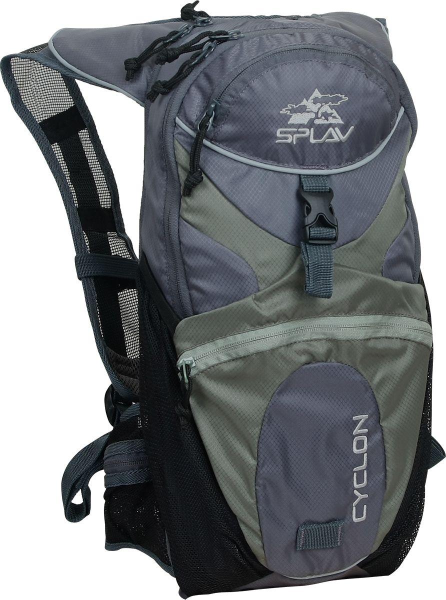 Рюкзак туристический Сплав Cyclon, цвет: серый, 10 л5026690Мультиспортивный небольшой рюкзак изменяемого объема. Оптимально подходит для использования в комплекте с питьевой системой.Специальное отделение для крепления питьевой системы (1,5 - 2 л).Выход трубки питьевой системы непосредственно в лямку (как правую, так и левую).Дополнительное съемное пластиковое крепления для шланга питьевой системы на лямке.Максимально вентилируемые анатомические лямки и пояс.Сетчатые карманы в поясе.Крепление для каски или вещей с фиксирующим ремнем и небольшим объемным карманом.Жесткая спина с центральным вентилирующим каналом.Большой карман из сетки на внутренней стороне передней поверхности рюкзака.Маленький карман в верхней части рюкзака.Изменяемый объем.Возможна установка питьевой системы (в комплект не входит!). Максимальный объем: 10 лВес (без питьевой системы): 0,6 кгГабариты основного отделения: 44 х 21 х (11-17)смОсновная ткань: Polyester Diamond 200D R/SМолнии: YKKПластиковая фурнитура: YKK