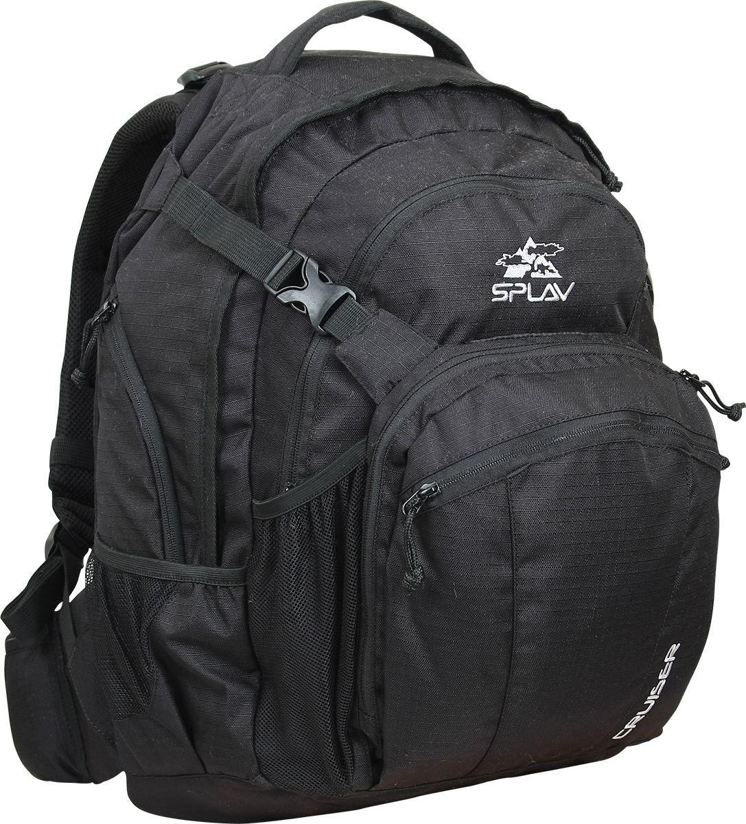Рюкзак туристический Сплав Cruiser, цвет: черный5026840Среднеразмерный городской многофункциональный рюкзак с возможностью переноски ноутбука. Будет удобен не только в повседневном использовании, но и в деловых поездкахАнатомические лямки и вентилируемая спинаГрудная стяжкаОтделение с жесткими стенками в основном объеме для фиксации ноутбука с 15 матрицейБоковые карманы с усиленной внешней стенкой удобны для переноски блока питания и других аксессуаров для ноутбукаБольшой передний карман для документовКрепление для каски или вещей с утягивающими ремнями и объемным карманом, в котором разместился обширный органайзерБоковые сетчатые карманыУдобный пояс с кармашками. Объем: 32 лВес: 1,3 кгРазмеры рюкзака в наполненном состоянии (Ш?Т?В): 35?30?48 смТолщина органайзера: 9 смОсновная ткань: Polyester 600D R/SМолнии: YKKПластиковая фурнитура: YKK