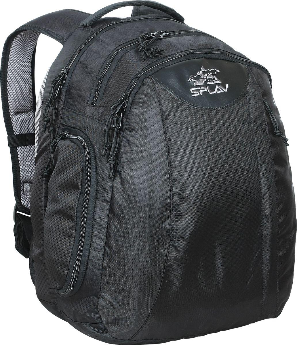 Рюкзак туристический Сплав Flipper, цвет: черный, 28 л5028040Комфортный городской рюкзак с тремя отделениями, для повседневного использования и работы. Рюкзак имеет три независимых отделения с многочисленными внутренними карманами и большой фронтальный карман с органайзером. Основная масса внутренних карманов повернута на 90 градусов. Такое расположение, а также сдвинутые на одну сторону молнии основных отсеков, дают возможность, не снимая рюкзака с правого плеча иметь доступ ко всему содержимому рюкзака. Ближнее к спине отделение имеет место для фиксации ноутбука, а его стенки продублированы для жесткости «пенкой». Также в этом отделении есть два больших сетчатых кармана на молниях. На одной боковой стенке имеется раскрываемый карман для фляги или других предметов. Выход для наушников. Две дополнительных ручки для переноски, cверху и сбоку рюкзака. Анатомические лямки имеют регулируемую грудную стяжку.Объем: 28 л Вес: 0,95 кг Габариты: 35 х 45 х 20 см Основная ткань: Polyester 420D Пластиковая фурнитура: DuraflexЧто взять с собой в поход?. Статья OZON Гид