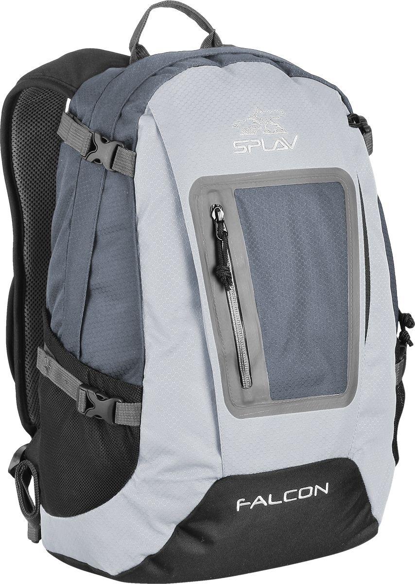Рюкзак туристический Сплав Falcon, цвет: серый, 20 л5027590Лёгкий функциональный городской рюкзак. Фронтальный вход на молнии. Мягкие валики с подкладкой из сетки Airmesh на спинке рюкзака. Три кармана на молнии в основном отделении. Небольшой карман для ценных вещей со входом на спинке рюкзака. Один небольшой карман для мелочей внутри основного объема. Объёмный фронтальный карман на молнии с органайзером. Плоский фронтальный карман закрыт влагозащитной молнией. Два боковых кармана из сетки. Совместим с питьевыми системами, выход шланга питьевой системы под правую руку. Съёмный, регулируемый поясной ремень.Боковые стяжки, по две с каждой стороны.Объем: 20 л Вес: 0,7 кг Используемые ткани: Polyester Honeycomb 300D R/S / 600D Пластиковая фурнитура: DuraflexЧто взять с собой в поход?. Статья OZON Гид
