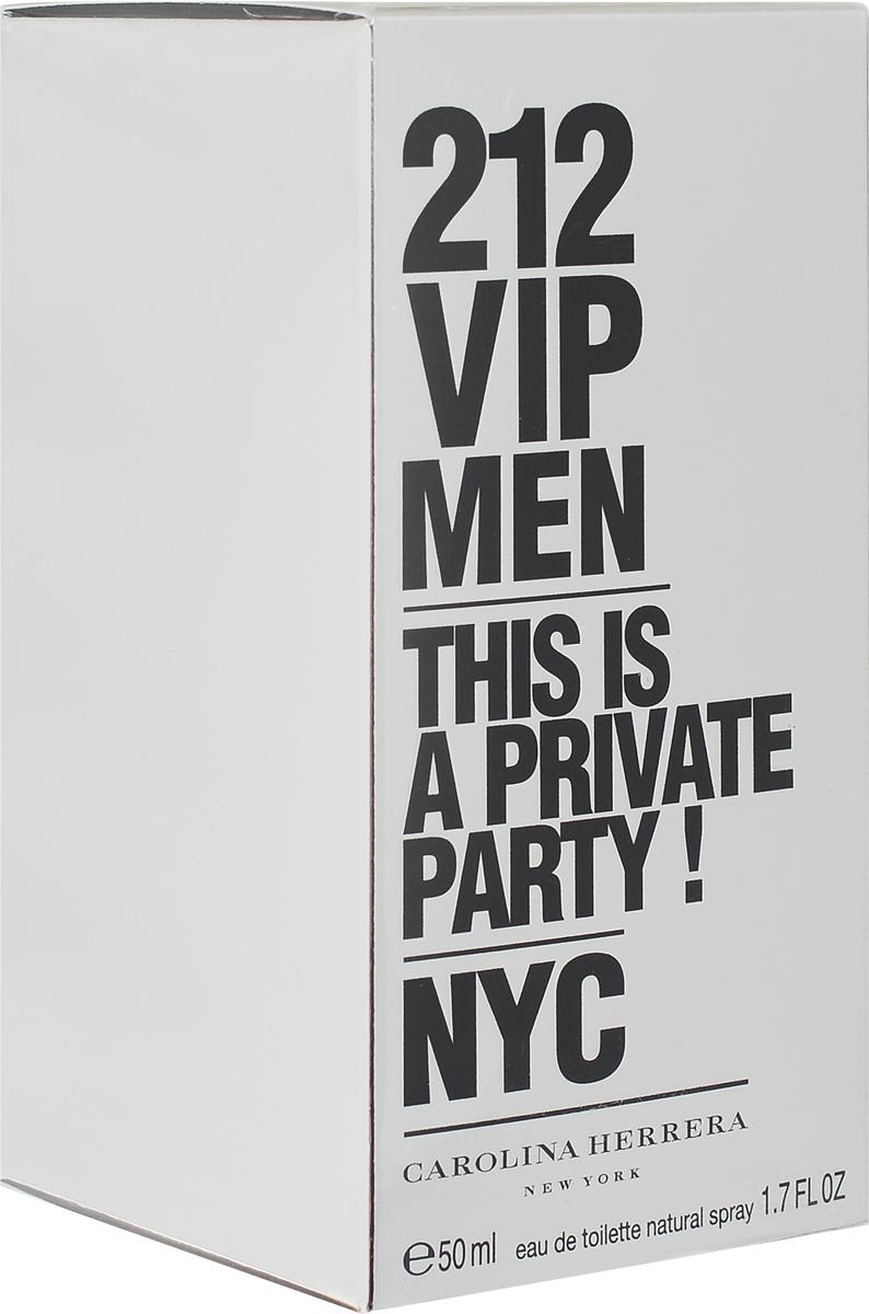 Carolina Herrera Туалетная вода 212 VIP Men, 50 мл8411061723777Carolina Herrera 212 VIP Men адресован сильному полу. Как и вся парфюмерная серия 212, аромат посвящен городу Нью-Йорку, а точнее его сердцу - Манхеттену. Ведь 212 - это как раз его телефонный код. В свою очередь 212 VIP Men - дань роскошным манхэттенским вечеринкам для VIP персон. А вы есть в списке? (Are You On The List?), - спрашивает слоган нового аромата от Carolina Herrera.Классификация аромата: древесный, восточный.Пирамида аромата: Верхние ноты: лайм, черная икра, перец, имбирь, маракуйя.Ноты сердца: специи, водка, джин, голубая мята.Ноты шлейфа: амбра, кожа, древесные ноты.Ключевые слова: Роскошный, динамичный, искрящийся и неповторимый!Туалетная вода - один из самых популярных видов парфюмерной продукции. Туалетная вода содержит 4-10%парфюмерного экстракта. Главные достоинства данного типа продукции заключаются в доступной цене, разнообразии форматов (как правило, 30, 50, 75, 100 мл), удобстве использования (чаще всего - спрей). Идеальна для дневного использования. Товар сертифицирован.Краткий гид по парфюмерии: виды, ноты, ароматы, советы по выбору. Статья OZON Гид
