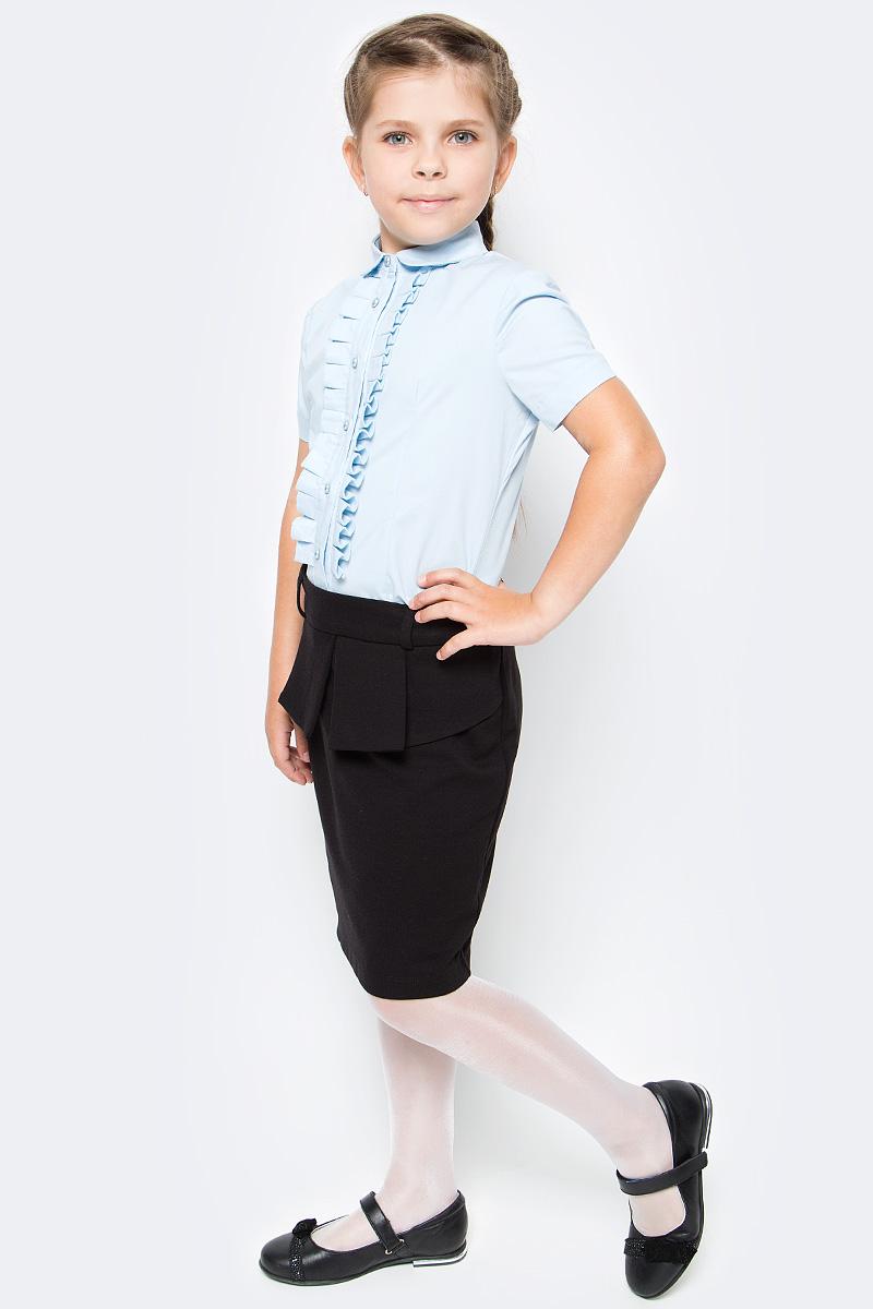 Блузка для девочки Overmoon by Acoola Ayra, цвет: голубой. 21200270001_400. Размер 152 футболка для девочки overmoon by acoola voronezh цвет синий белый 21210100001 8000 размер 152