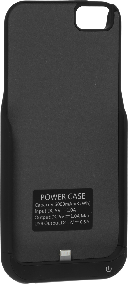 Red Line Power Case чехол-аккумулятор для Apple iPhone 6/6S/7 (6000mAh), Black