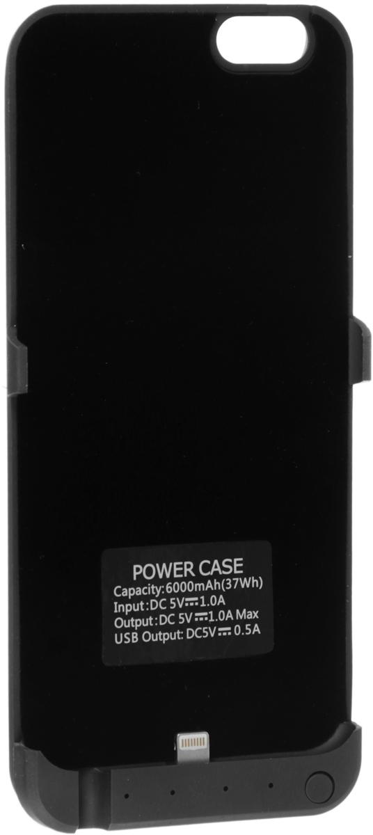 Red Line Power Case чехол-аккумулятор для Apple iPhone 6/6S (6000mAh), BlackУТ000009818Red Line Power Case - оптимальное решение для общения и интернет-серфинга. Как известно, большое количество современных сенсорных смартфонов (особенно спустя некоторое время) могут быстро терять уровень заряда батареи, и пользователю приходится постоянно следить за этим. дабы не остаться без связи в самый неподходящий момент. Зарядка устроена таким образом, что в процессе использования сначала расходуется резервное питание, а уже потом - заряд собственной батареи мобильного устройства.
