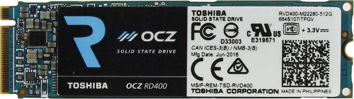 OCZ RD400 512GB SSD-накопитель (RVD400-M22280-512G)377642Твердотельный накопитель OCZ RD400 представляет собой высокопроизводительное и энергоэффективное решение для хранения данных, позволяющие повысить производительность работы домашних компьютеров и ноутбуков.Представленная модель хорошо подходит для установки операционной системы, обеспечивая ее быстрое функционирование и загрузку. Этому способствуют характеристики скоростей чтения и записи в 2600 Мб/с и 1150 Мб/с соответственно.Подключается накопитель через интерфейс PCI-Express x4, который характеризуется высокой пропускной способностью.Накопитель поддерживает технологию NVMe, которая заметно повышает производительность устройства, особенно в случае установки на достаточно мощные системы. Форм-фактор М.2 предполагает совместимость с самыми современными материнскими платами.