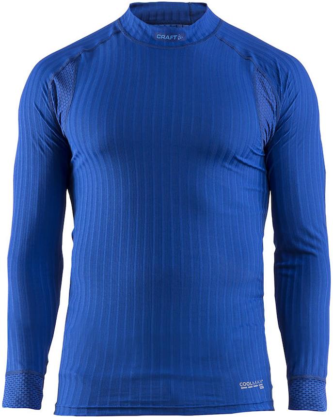 Термобелье кофта мужская Craft Active Extreme, цвет: синий. 1904495/2386. Размер S (46)1904495/2386Мужская кофта эргономичного кроя с отличной терморегуляцией.Тонкий, легкий и эластичный материал с помощью полых волокон удерживает теплый воздух, обеспечивая теплоизоляцию тела.Дополнительные волокна Coolmax-Air, соприкасаясь с кожей, способствуют отведению влаги и предотвращают перегрев.Вставки из сетки расположены в наиболее горячих зонах тела.Плоские швы расположены так, чтобы повторять движения тела.