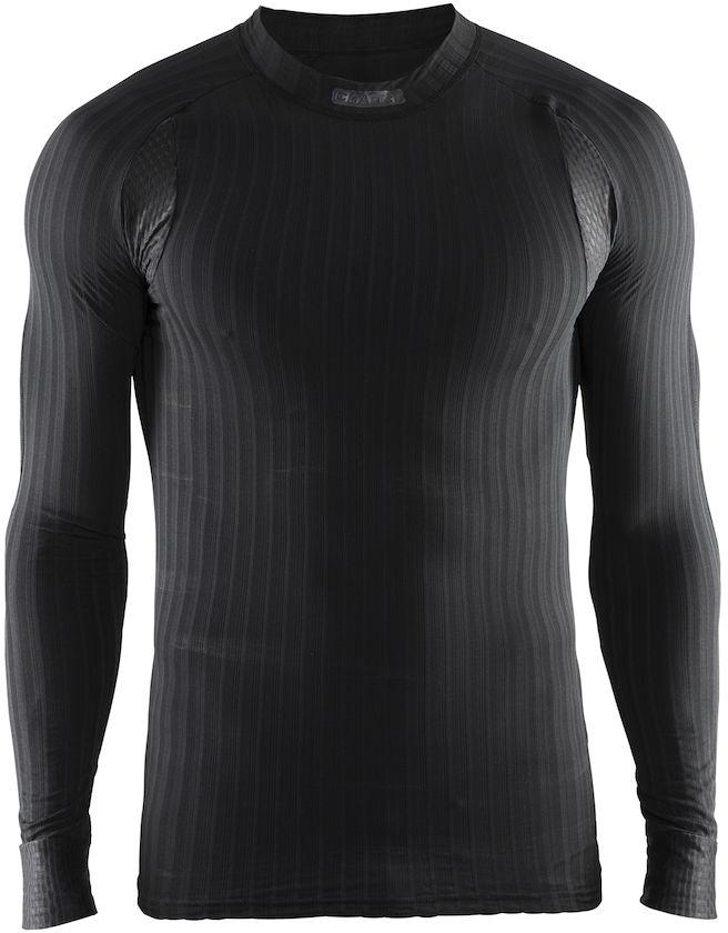 Термобелье кофта мужская Craft Active Extreme, цвет: черный. 1904495/9999. Размер S (46)1904495/9999Мужская кофта эргономичного кроя с отличной терморегуляцией.Тонкий, легкий и эластичный материал с помощью полых волокон удерживает теплый воздух, обеспечивая теплоизоляцию тела.Дополнительные волокна Coolmax-Air, соприкасаясь с кожей, способствуют отведению влаги и предотвращают перегрев.Вставки из сетки расположены в наиболее горячих зонах тела.Плоские швы расположены так, чтобы повторять движения тела.