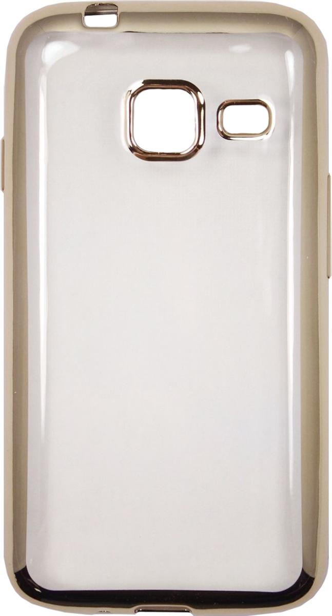 Red Line iBox Blaze чехол для Samsung Galaxy J1 mini (2016), GoldУТ000009697Практичный и тонкий силиконовый чехол Red Line iBox Blaze для Samsung Galaxy J1 mini (2016) с эффектом металлических граней защищает телефон от царапин, ударов и других повреждений. Чехол изготовлен из высококачественного материала, плотно облегает смартфон и имеет все необходимые технологические отверстия, соответствующие модели телефона.Силиконовый чехолRed Line iBox Blaze долгое время сохраняет свою первоначальную форму и не растягивается на смартфоне.