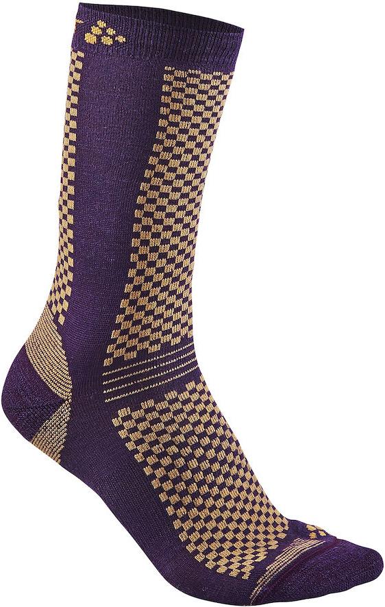 Термоноски Craft Warm, цвет: фиолетовый. 1905544/751563. Размер 37/391905544/751563Теплые носки с прекрасной функцией переноса влаги и с эластичной защитой для свода стопы.