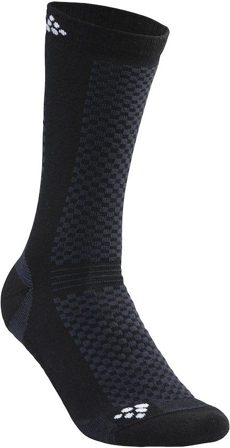 Термоноски Craft Warm, цвет: черный. 1905544/999900. Размер 46/481905544/999900Теплые носки с прекрасной функцией переноса влаги и с эластичной защитой для свода стопы.