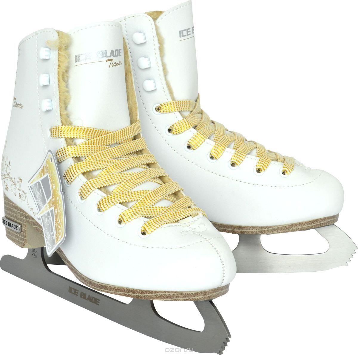 """Коньки фигурные женские Ice Blade """"Tiana"""", цвет: белый. Размер 42"""