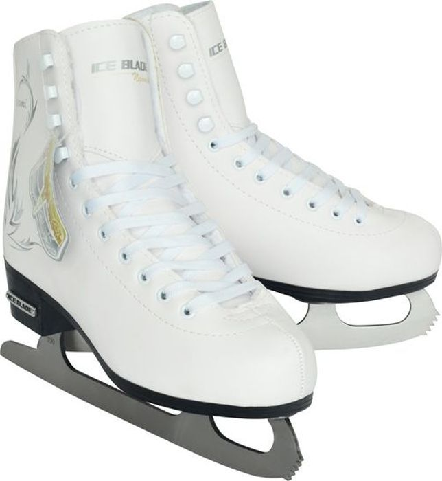 Коньки фигурные женские Ice Blade Naomi, цвет: белый. Размер 42 пластина ada ice blade 150 1000мм