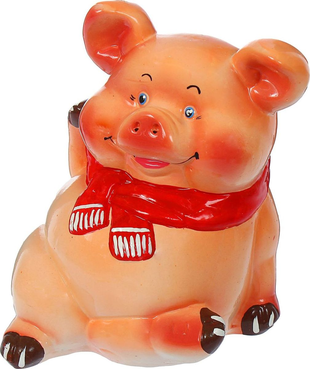 Копилка Керамика ручной работы Поросенок в шарфе, 20 х 18 х 23 см1129468В доме обязательно пригодится копилка, куда каждый в семье может складывать ненужную мелочь. Когда изделие наполнится, разбейте его и вместе приобретите что-нибудь. Копилка, выполненная в виде свиньи, является одной из наиболее популярных во всём мире, ведь она символизирует рост благосостояния. А её универсальная форма позволяет вместить немало денежных средств.Обращаем ваше внимание, что копилка является одноразовой.