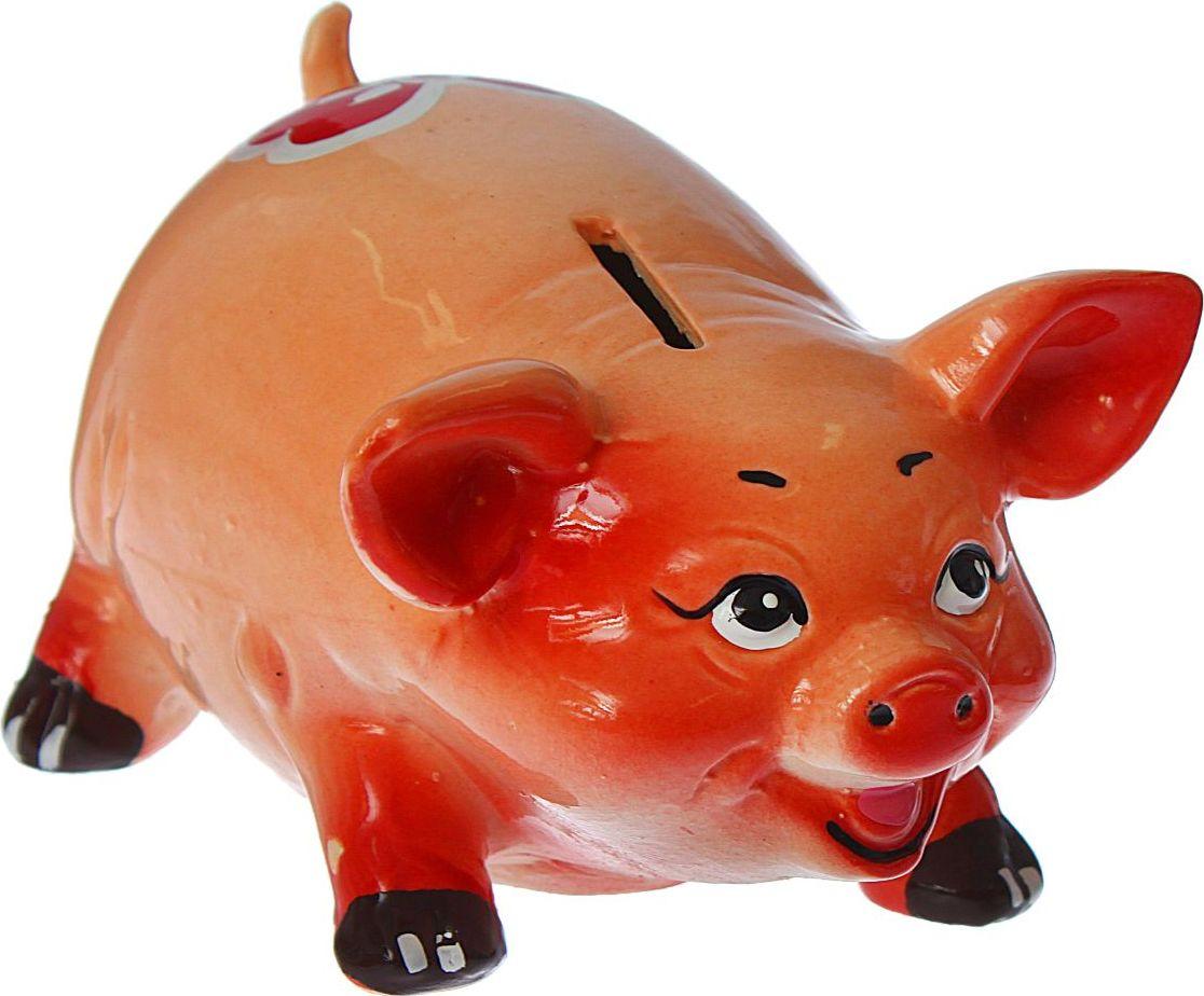 Копилка Керамика ручной работы Поросенок с бантиком, 14 х 10 х 8 см1279750В доме обязательно пригодится копилка, куда каждый в семье может складывать ненужную мелочь. Когда изделие наполнится, разбейте его и вместе приобретите что-нибудь. Копилка, выполненная в виде свиньи, является одной из наиболее популярных во всём мире, ведь она символизирует рост благосостояния. А её универсальная форма позволяет вместить немало денежных средств.Обращаем ваше внимание, что копилка является одноразовой.