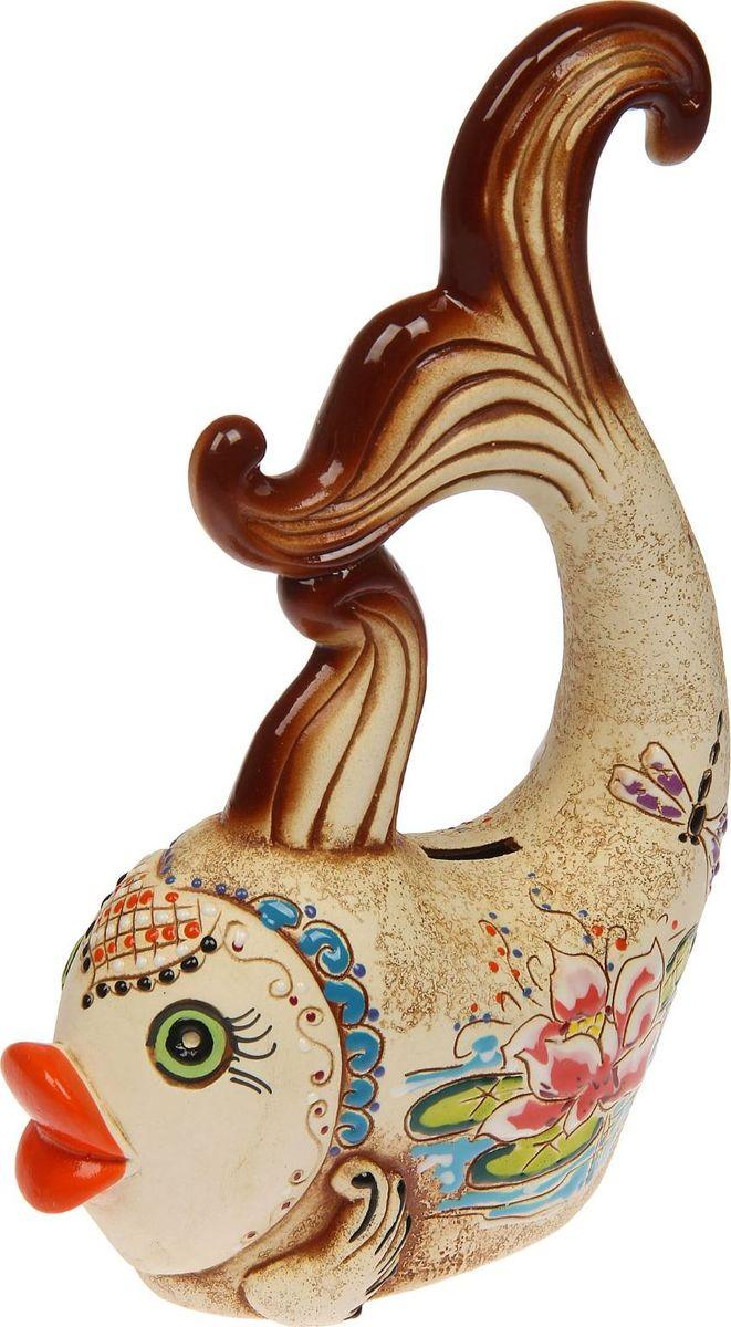 Копилка Керамика ручной работы Рыбка, 19 х 7 х 27 см1445279Оригинальная копилка, выполненная в виде любимого животного, станет необычным украшением интерьера или полезным подарком для любимого человека. С её помощью вы с лёгкостью избавите карманы от мелочи и незаметно для себя приумножите сбережения.Обращаем ваше внимание, что копилка является одноразовой.
