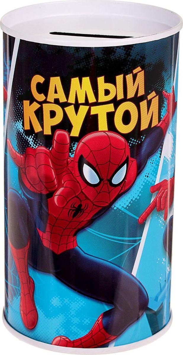 Копилка Marvel Самый крутой. Человек-паук, 6,5 х 6,5 х 12 см1866962Копилки со знаменитыми персонажами обязательно понравятся ребёнку! Данное изделие изготовлено из лёгкого металла и весит 61 г. Изображение нанесено краской.Высота — 12 см, диаметр — 6,5 см.Обращаем ваше внимание, что копилка является одноразовой.