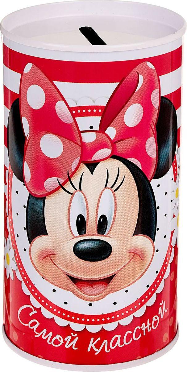 Копилка Disney Самой классной. Минни Маус, 6,5 х 6,5 х 12 см1866965Копилки Disney со знаменитыми персонажами обязательно понравятся ребенку!Данное изделие изготовлено из легкого металла и весит всего 61 грамм. Изображение нанесено краской.Высота - 12 см, диаметр - 6,5 см.Обращаем ваше внимание, что копилка является одноразовой.