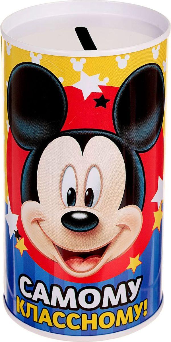 Копилка Disney Самому классному. Микки Маус, 6,5 х 6,5 х 12 см1866966Копилки со знаменитыми персонажами обязательно понравятся ребёнку! Данное изделие изготовлено из лёгкого металла и весит 61 г. Изображение нанесено краской.Высота — 12 см, диаметр — 6,5 см.Обращаем ваше внимание, что копилка является одноразовой.