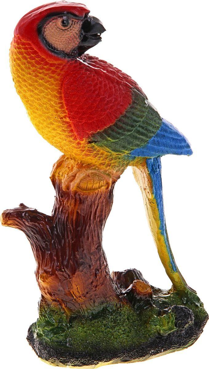 Копилка Попугай на деревце, 35 х 20 х 15 см435661Копилка — универсальный вариант подарка любому человеку, ведь каждый из нас мечтает о какой-то дорогостоящей вещи и откладывает или собирается откладывать деньги на её приобретение. Вместительная копилка станет прекрасным хранителем сбережений и украшением интерьера. Она выглядит так ярко и эффектно, что проходя мимо, обязательно захочется забросить пару монет.Обращаем ваше внимание, что копилка является одноразовой.