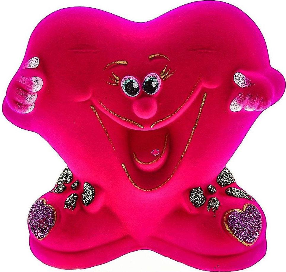 Копилка Керамика ручной работы Улыбающееся сердечко, цвет: ярко-розовый, 8 х 14 х 14 см748872Ищете подарок для второй половинки? Копилка в форме сердца станет приятным сюрпризом и отличным сувениром для любимого человека на 14 февраля или годовщину. Придумайте, что бы вы хотели купить вместе, и откладывайте сбережения.Обращаем ваше внимание, что копилка является одноразовой.