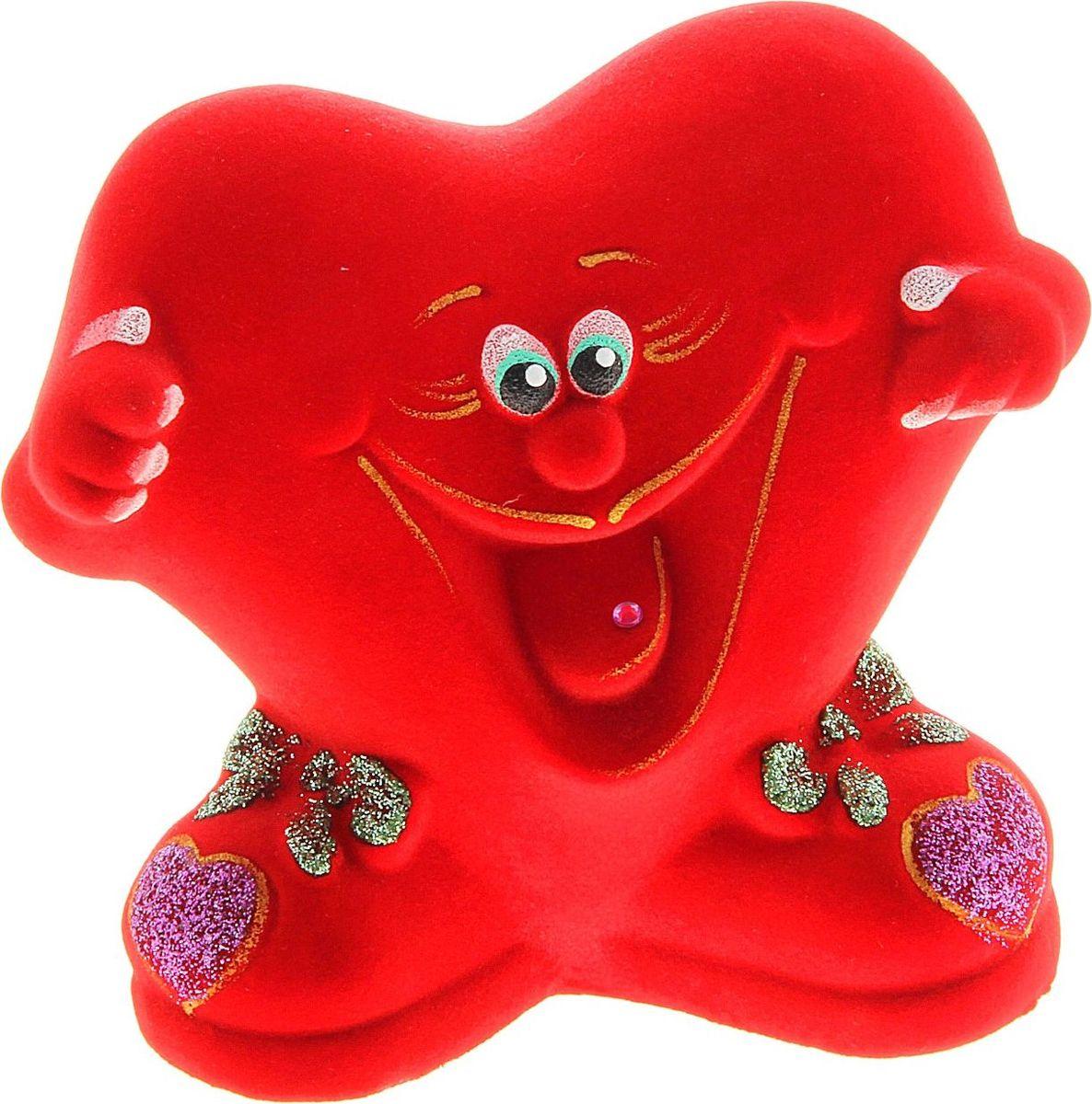 Копилка Керамика ручной работы Улыбающееся сердечко, цвет: красный, 8 х 14 х 14 см748874Ищете подарок для второй половинки? Копилка в форме сердца станет приятным сюрпризом и отличным сувениром для любимого человека на 14 февраля или годовщину. Придумайте, что бы вы хотели купить вместе, и откладывайте сбережения.Обращаем ваше внимание, что копилка является одноразовой.