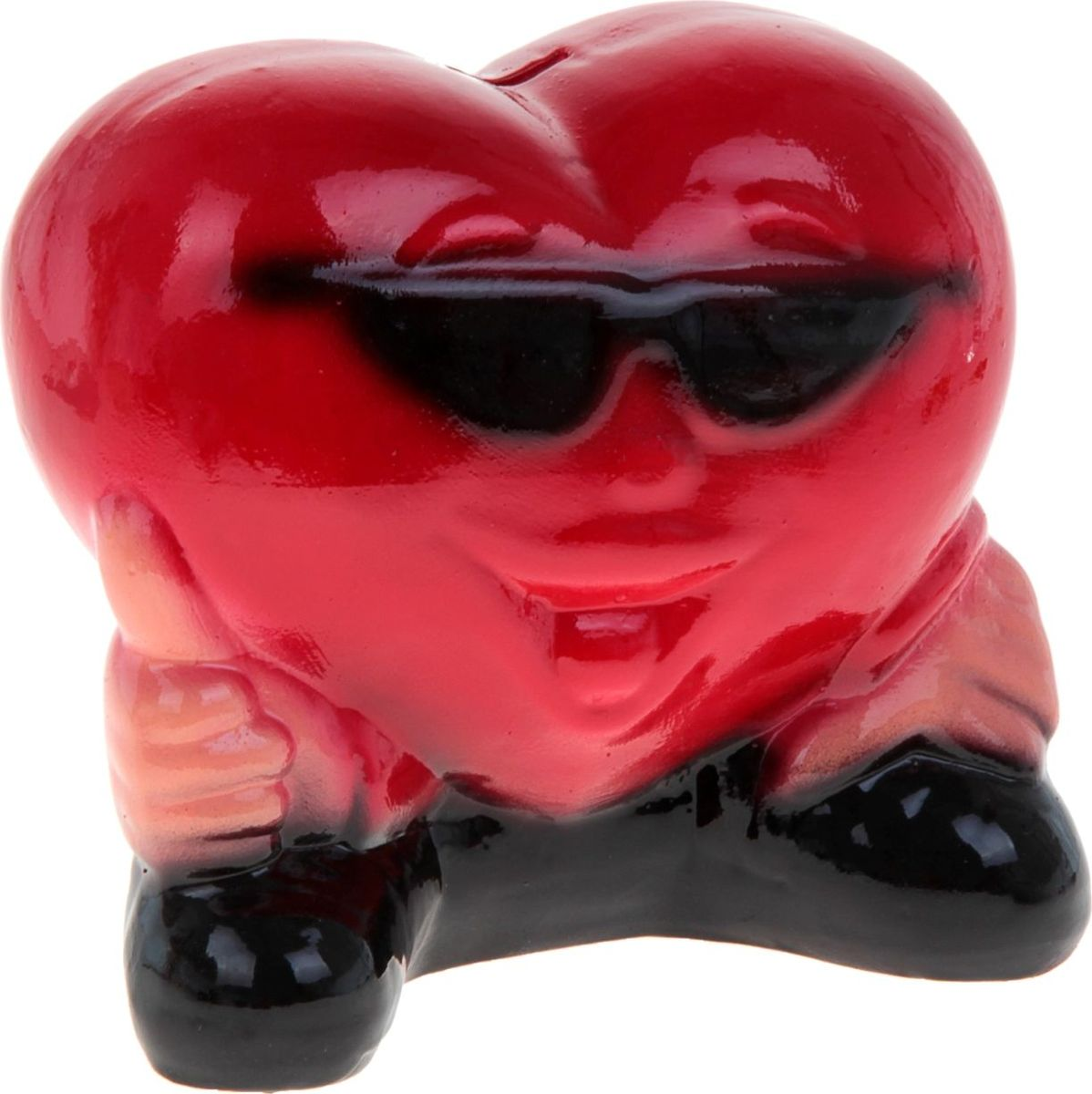 Копилка Керамика ручной работы Сердце в очках, 20 х 17 х 10 см825289Ищете подарок для второй половинки? Копилка в форме сердца станет приятным сюрпризом и отличным сувениром для любимого человека на 14 февраля или годовщину. Придумайте, что бы вы хотели купить вместе, и откладывайте сбережения.Обращаем ваше внимание, что копилка является одноразовой.