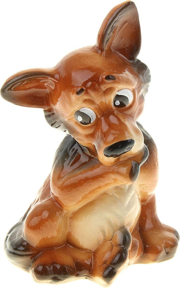 """С керамической копилкой """"Собака Тинки"""" у вас всегда будет сумма на """"чёрный день"""". Заведите домашнего питомца прямо на рабочем столе! Собака всегда была верным другом, помощником и защитником человека. Изделие в виде этого животного надежно сохранит ваши сбережения.Обращаем ваше внимание, что копилка является одноразовой."""