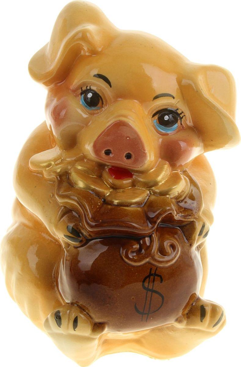 Копилка Керамика ручной работы Свинка Дося, 18 х 16 х 25 см911174В доме обязательно пригодится копилка, куда каждый в семье может складывать ненужную мелочь. Когда изделие наполнится, разбейте его и вместе приобретите что-нибудь. Копилка, выполненная в виде свиньи, является одной из наиболее популярных во всём мире, ведь она символизирует рост благосостояния. А её универсальная форма позволяет вместить немало денежных средств.Обращаем ваше внимание, что копилка является одноразовой.