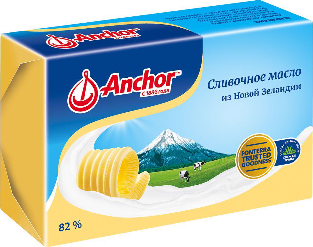 Anchor Масло сливочное 82%, 180 г21212Сливочное масло из Новой Зеландии