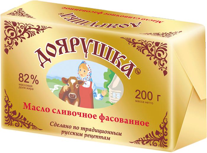 Доярушка Масло сливочное 82-82,5 %, 200 г79713Сладкосливочное масло