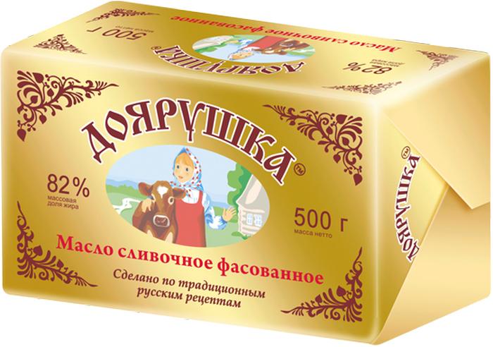 Доярушка Масло сливочное 82-82,5 %, 500 г масло