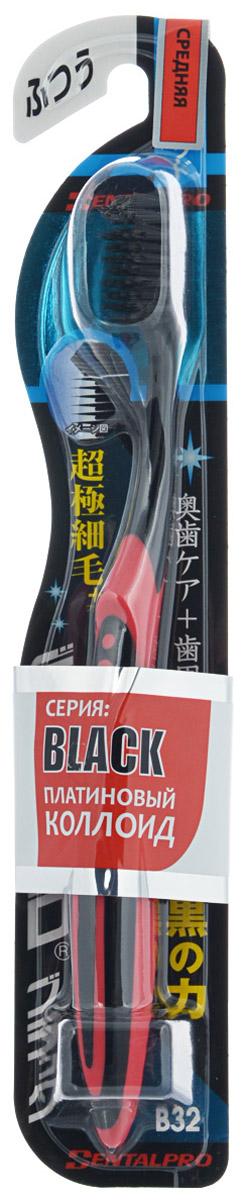 Dentalpro Зубная щетка Ultra Slim Plus средней жесткости, цвет красный, черный121129, 121169- PCC (платиновая коллоидная керамика) в составе щетинок позволяет эффективно ухаживать за полостью рта даже без использования зубной пасты- Очистка с технологией PCC на 15% результативнее - Высокая плотность щетинок в верхней части позволяет удалять загрязнения с дальних зубов и труднодоступных мест- Очистка пародонтального кармана (щель между зубом и десной) благодаря ультра-тонким щетинкам - Эргономичный дизайн обеспечивает маневренность и комфорт в использовании Способ применения: чистить зубы в течение 2-3 минут.Состав:полипропилен, EPMD.